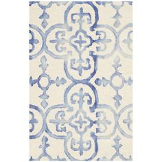 Jane Rug in Ivory & Blue | Joss & Main