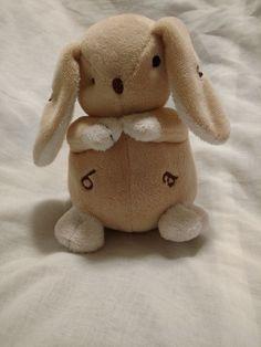 Bunny Plush Baby Alphabet Inner Workings Lovey Tan Snuggle Soft Gift #InnerWorkings
