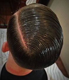 Slick Hair Shine | barbershop photograph of a young male illustration how the side ...