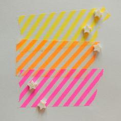 Doelightful Wide Neon Airmail Washi Set #FreckledFawnPin