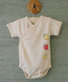 Take a look at this Little Strawberry Patch Kimono by land of looms on #zulily today!