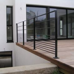 Outdoor railing / metal / with bars / for patios CABOURG E Modern Railing, Metal Railings, Modern Staircase, Balcony Railing, Stair Railing, Stairs, Patio Plan, Escalier Design, Balustrades