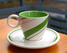 Starbucks Coffee Company Christmas Holiday 2007 3oz Set Mini Mug & Saucer Green  | eBay