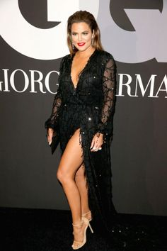 Khloe Kardashian attends GQ and Giorgio Armani Grammys After Party at Hollywood Athletic Club on February 8, 2015 in Hollywood, California.