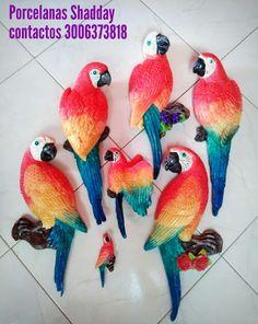 haz tu pedido.. 3006373818 Parrot, Dinosaur Stuffed Animal, Bird, Toys, Animals, Plaster, Parrot Bird, Animales, Animaux