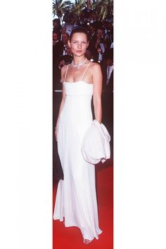 Kate Moss in Lloyd Klein for Grès Paris, 1998 at Cannes