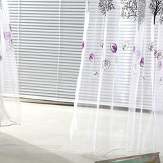 Tree Pattern Tulle Window Curtain