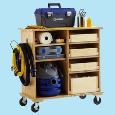 Garage organizer cart