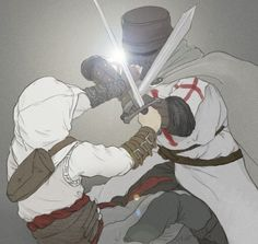 Fight with a Templar. Altaïr.  Assassin's Creed.