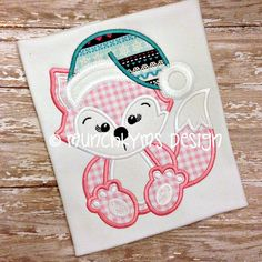 Miss Holly Fox Applique by MunchkymsDesign on Etsy, $4.00
