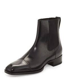 Gianni Leather Chelsea Boot, Black by TOM FORD at Neiman Marcus.
