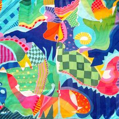 Seidenschals - Handbemaltes Seidentuch - ein Designerstück von ticinese bei DaWanda