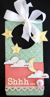 What a great door hanger for a baby's room!! Unity Stamps