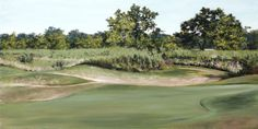 """Jill Poyerd Watercolors - Oil Paintings """"summer on the course"""""""