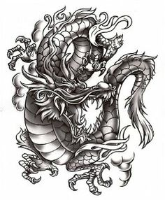 "Grey Dragon by TattooFun.com. $7.95. This is a 7"" x 8.5"" tattoo of a large grey dragon"