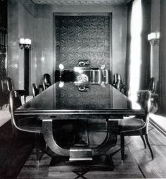 French Art Deco: Dining room by Emile-Jacques Ruhlmann.
