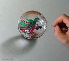 color pencil drawing glass
