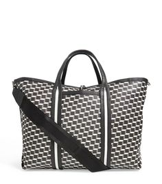 Pierre Hardy Polycube Patterned Tote Bag In Black Shoulder Bags, Shoulder Strap, Pierre Hardy, Tote Pattern, Printed Tote Bags, Black Tote Bag, Hand Bags, Calves, Mens Fashion