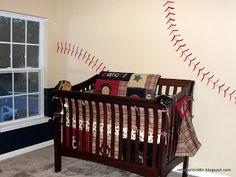 Play Ball Nursery DIY... For a boy love this wall!