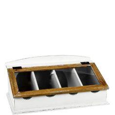 Ein Blickfang auf jeder Anrichte oder Arbeitsfläche: In diesem Besteckkasten mit gläsernem Deckel sind Messer, Gabel