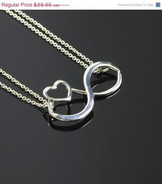 Infinity Pendant Heart Necklace