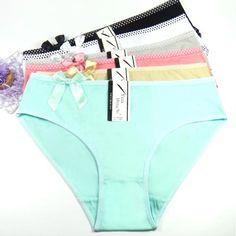 99ab0c8075a FUNCILAC Women s cotton briefs sexy low-rise print panties Ladies briefs  big size women briefs underwear