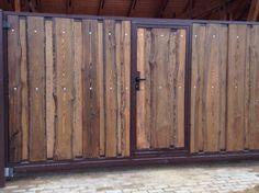Ворота откатные (лиственница)