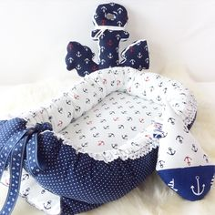 Baby babynest, anchor-pillow and boat