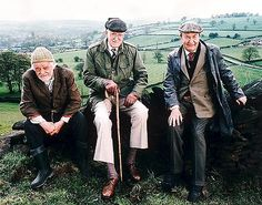 """Last of the Summer Wine (BBC) """"Compo"""" (Bill Owen), """"Foggy"""" (Brian Wilde) and """"Clegg"""" (Peter Sallis). Especially love the episode when Foggy hypnotizes himself in an effort to do so to another. Last Of Summer Wine, Summer Day Camp, British Tv Comedies, British Comedy, Comedy Tv, Comedy Show, Peter Sallis, Bbc Tv Shows, British Humor"""