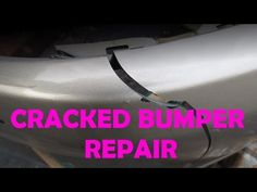 DIY Bumper Crack Repair - YouTube