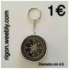 PORTACHIAVI BUSSOLA ANELLO ACCIAIO  1 €