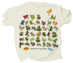 Ultimate Frog and Toad Guide T-Shirt. This preshrunk cotton natural colored t-shirt beautifully features the labeled pictures of 40 species of Frogs and Toads. Adult S M L XL and XXL. Mein Style, Accesorios Casual, Frog And Toad, Cheap T Shirts, Look Cool, Aesthetic Clothes, Tshirt Colors, Clothing Items, Summer Outfits