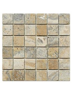 Marbleandthings is a leading US importer and wholesaler of Philadelphia Scabos Travertine Square Tumbled Mesh Mounted Mosaic Tile.