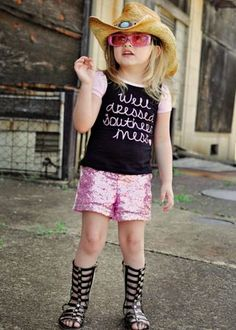"""""""Well Dressed Southern Mess"""" Sequin Shorts Set for girls!"""