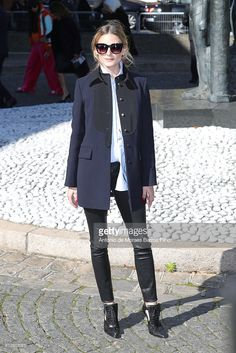 Olivia Palermo attends the Miu Miu show as part of the Paris Fashion Week Womenswear Spring/Summer 2017 on October 5, 2016 in Paris, France.
