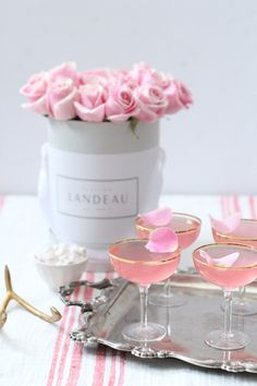 Lady Rose Cocktail Recipe made with vodka, rose syrup, rose water and tonic.