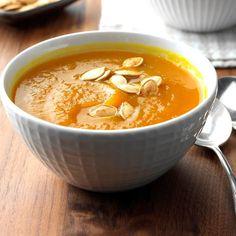 Pumpkin Soup Recipe From Fresh Pumpkin.How To Roast Pumpkin Minimalist Baker Recipes. Paleo Roasted Pumpkin Soup With Fried Sage Swiss Paleo. Home and Family Pumpkin Soup, Pumpkin Recipes, Cooking Pumpkin, Slow Cooker Soup, Slow Cooker Recipes, Thanksgiving Recipes, Fall Recipes, Dinner Recipes, Fruit Recipes