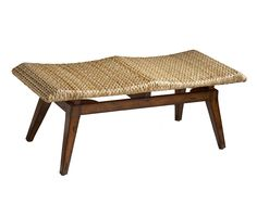 "Contemporary Island Bench  With the comfort and beauty of natural grace, this woven bench feels like your favorite spa everyday! Ideal for entryway or bedroom, this also provides extra seating for dining or visiting. Made of selected solid woods and wood products. Foam seat cushion covered with natural seagrass. Product Dimensions 48""W, 18""D, 18""H"
