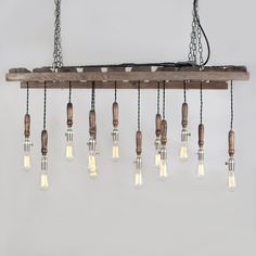 Salvaged Pallet Chandelier design.