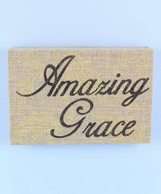 Look at this 'Amazing Grace' Wood Wall Sign on #zulily today!