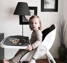 Oh so dapper! On the Oribel Cocoon high chair. Do you love the colour?