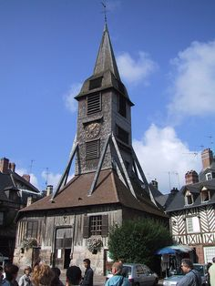 Saint Catherine's Church: The bell tower. Honfleur, Normandy