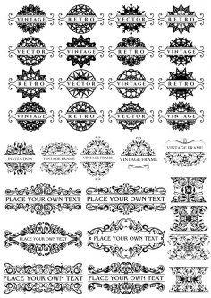 Vintage Retro Calligraphic Decor Elements Free Vector Cdr Download 3axis Co Retro Vintage Retro Elements