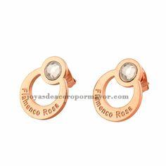 aretes-en-la-orejas brillo en acero de color oro rosado por mayor -SSEGG492149