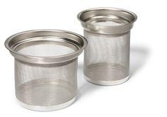 Tefilter rustfrit stål, 2stk