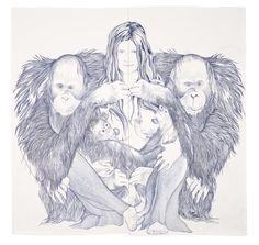 Marlene McCarty, 2007, ballpoint pen and graphite