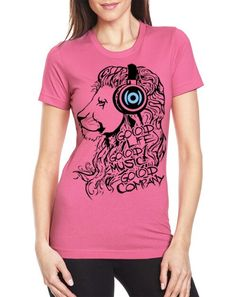 Pick up our Women's junior fitted Lion tee in pink or blue. GO(O)D Life, GO(O)D Music, GO(O)D Company. www.GoodCoApparel.com #iKeepGoodCo