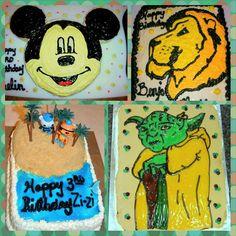 Mickey Mouse Cake, Narnia Cake, Aslan Cake, Octonauts Cake, Yoda Cake, confection.connection's photo on Instagram