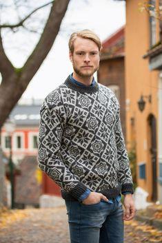 Sweater Jacket, Men Sweater, Fair Isle Pattern, Color Combinations, Norway, Knitwear, Knitting Patterns, Sport, Retro