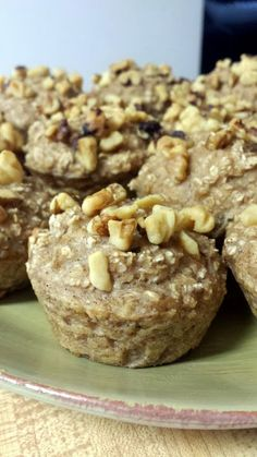 """100% Healthy Banana Oatmeal Muffins! """"These muffins are totally guilt-free and a healthy start to your day!"""